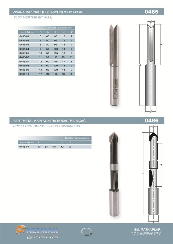 0485 Slot Mortise Bit (HSS)