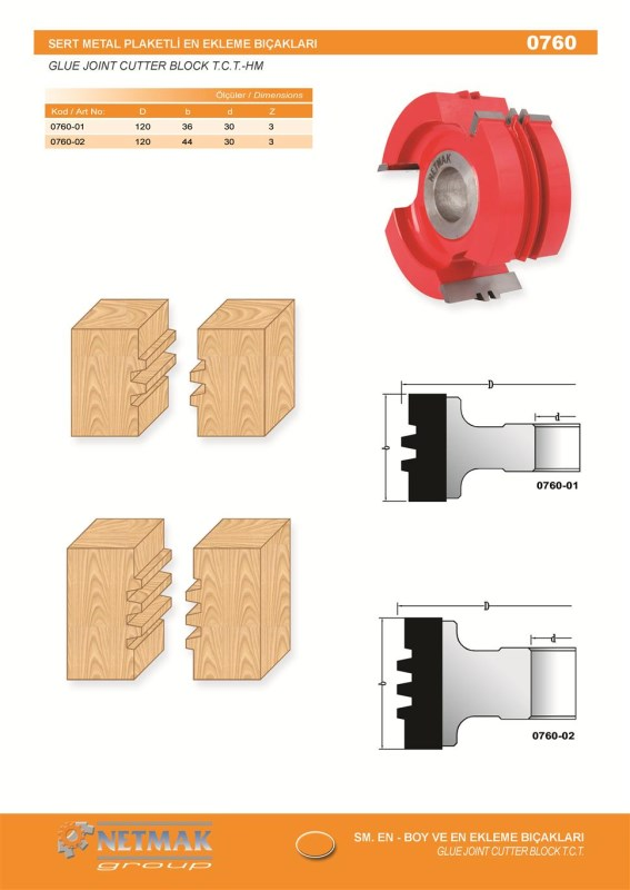 0760 Glue Joint Cutter Block T.C.T-