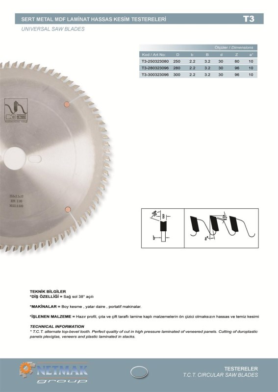 T3 Universal Saw Blades