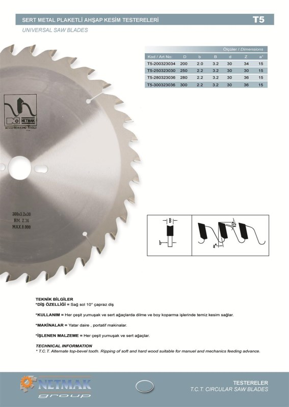T5 Universal Saw Blades